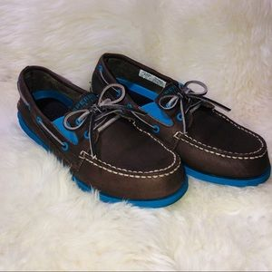 Sperry Top Sider Leather Boat Shoes Boys Size 5 m